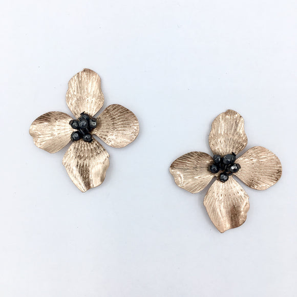 Flower Chic- Metallic Stud II Rose