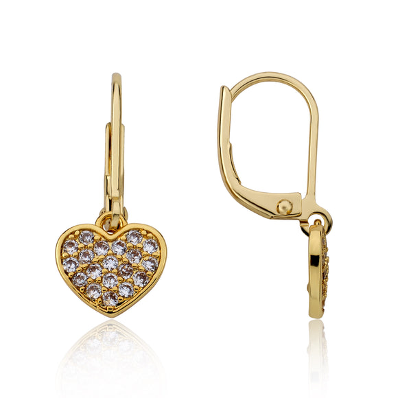 Heart CZ Earrings