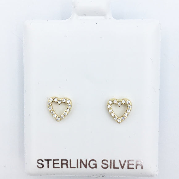 925 Open Heart Earrings