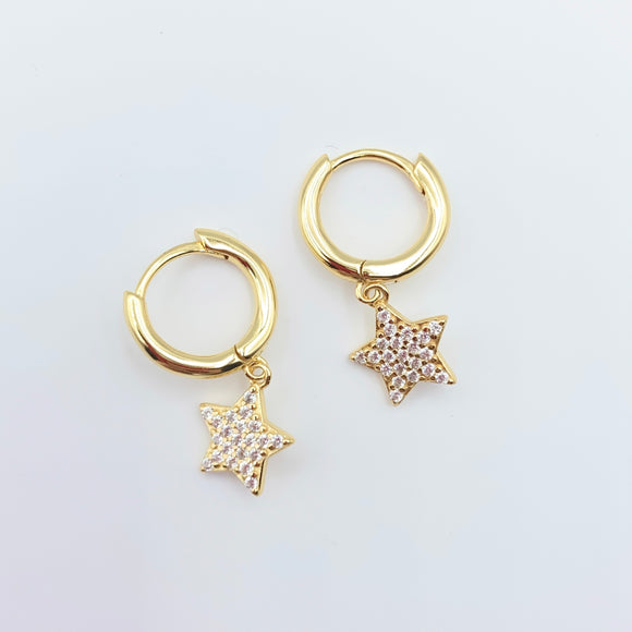 Star Drop Hoops