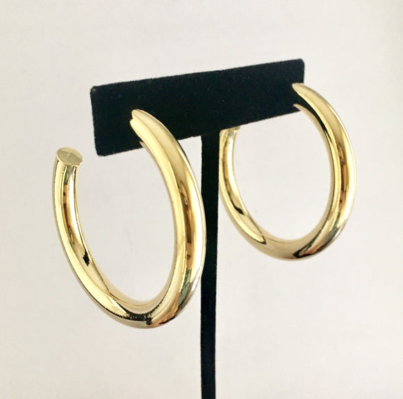 Goddess Status- Large Gold Dipped Hoops