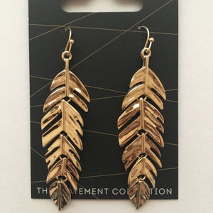 Gala Statement 9.0- Gold Feathers