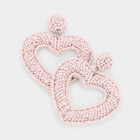Beaded in the Tropics- Blush Heart