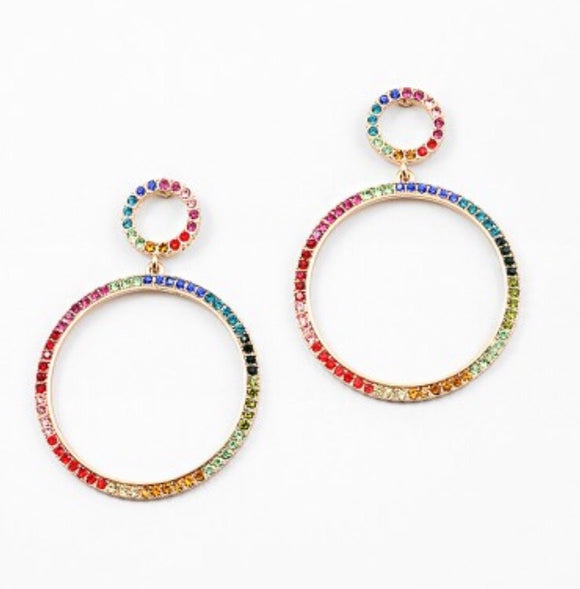 Rainbow Open Hoops