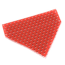 Load image into Gallery viewer, Pup and People Dog Bandana Orange Cherry Print