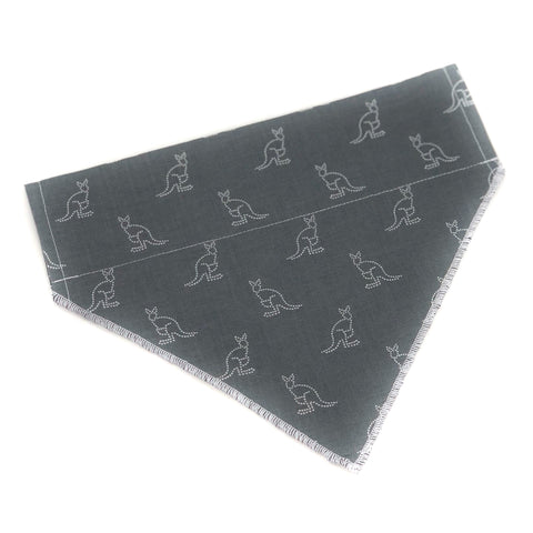 Pup and People Dog Bandana Kangaroo Print