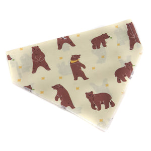 Pup and People handmade dog bandana in Big Bear print
