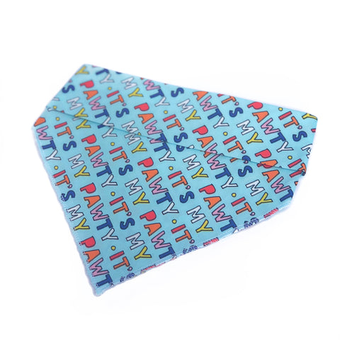 Pawty Party Tie On Dog Bandana