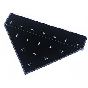 Black Slide On Dog Bandana - SAMPLE