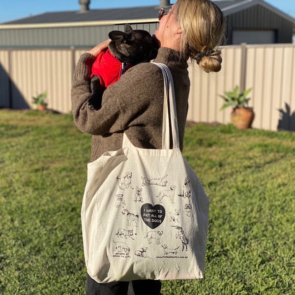 'The Dog Lover' Reusable Tote Bag