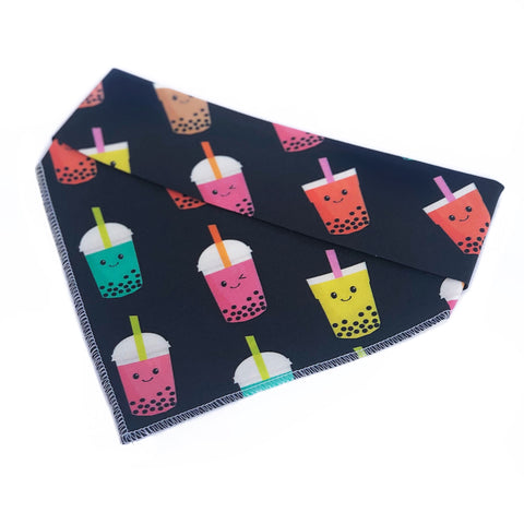 Bubble Tea Tie On Dog Bandana