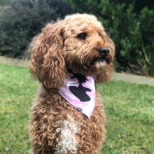 Load image into Gallery viewer, Pink Camo Tie On Dog Bandana