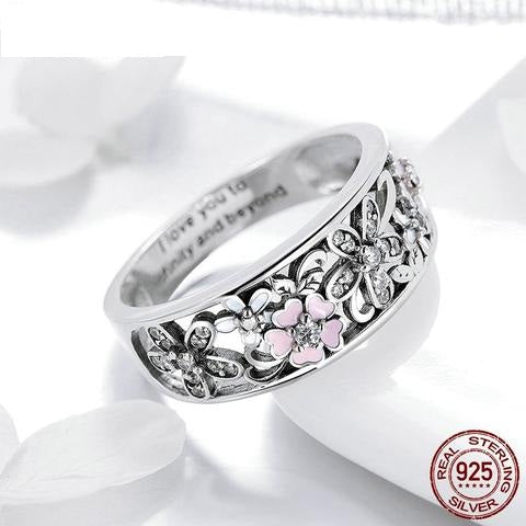 Daisy Flower 925 Sterling Silver Fashion Ring for Women