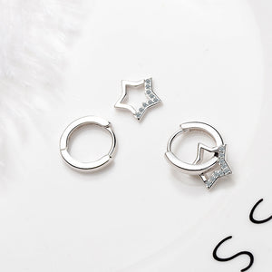 925 Sterling Silver Simulated Cubic Zirconia Star Earring