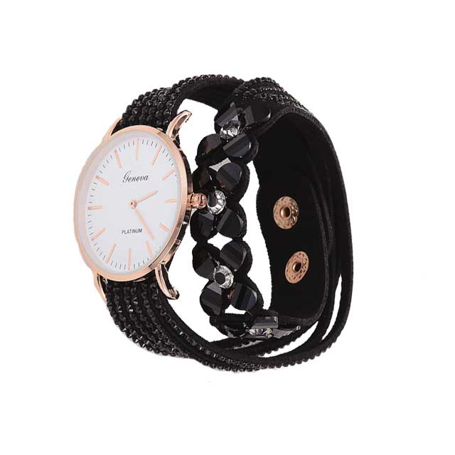 Fashion Flowers Design Wrist Watch For Women Elegant Bracelet Watch