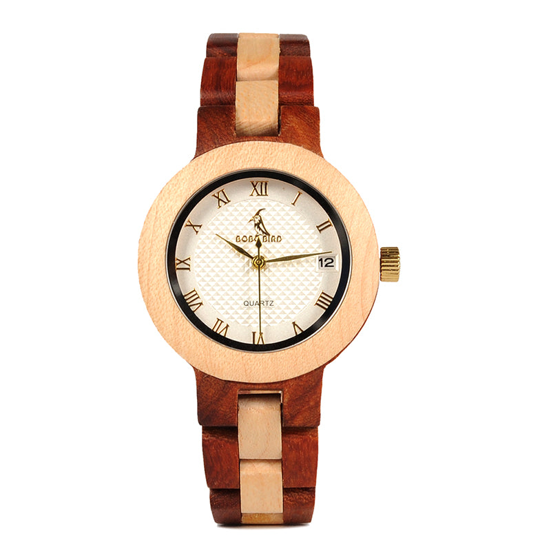 Top Brand Luxury Rose Sandal Wood Design Watch For Women