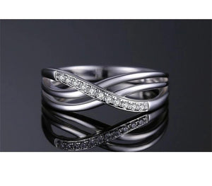 925 Sterling Silver Infinity Knot Stackable Eternity Anniversary Ring Band