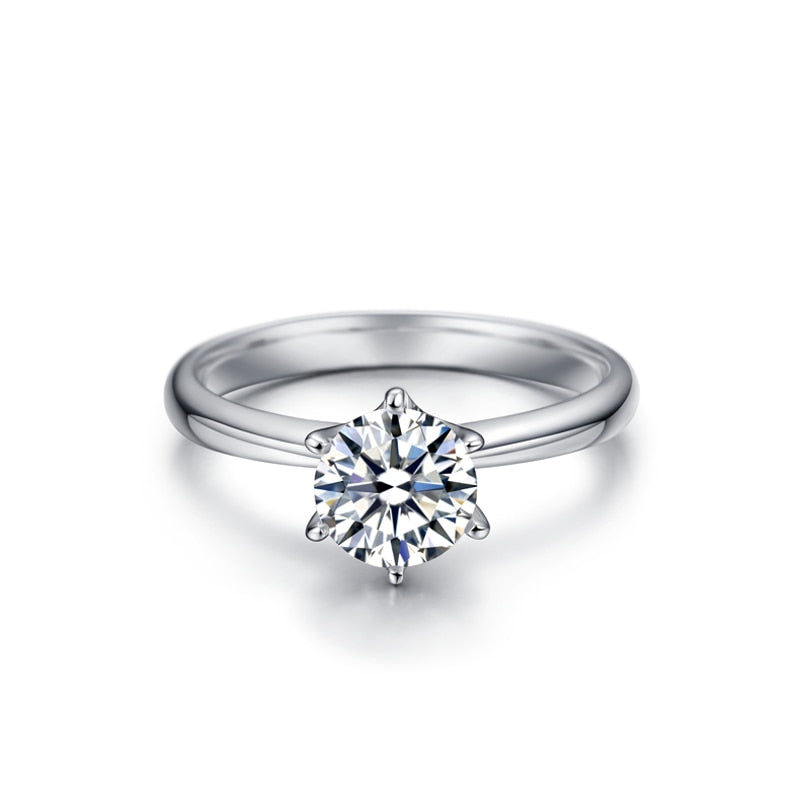 925 Sterling Silver 1.5 Carat Simulated CZ Wedding Anniversary Solitaire Ring