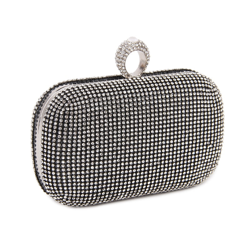 Luxury Diamond-Studded Clutch Bag With Shoulder Hanging Chain