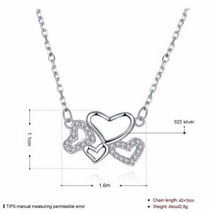925 Sterling Silver Multiple Heart Necklaces & Pendant