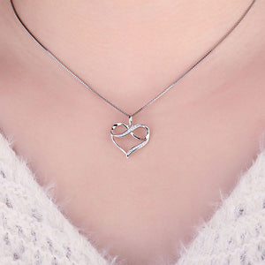 925 Sterling Silver Infinity Love Heart Pendant Without Chain