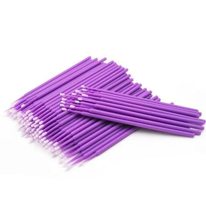Individual Disposable Make up Eyelashes With Removing Cotton Swab Brushes Eyelash 100Pcs