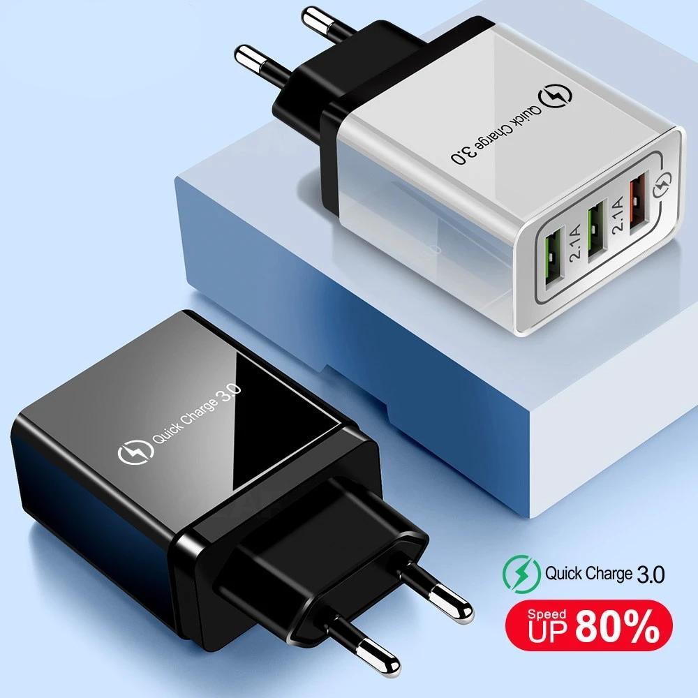 USB Quick Charger With Charge 3.0 For Mobile Phone