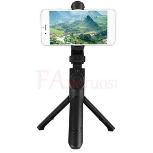 New Foldable Handheld Wireless Mini Tripod with Shutter Remote For Phone