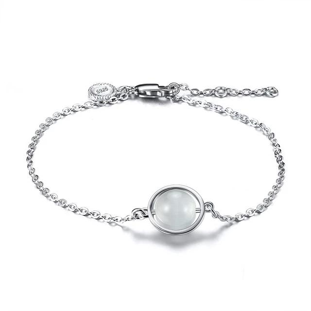 925 Sterling Silver Simulated CZ Women Bracelet