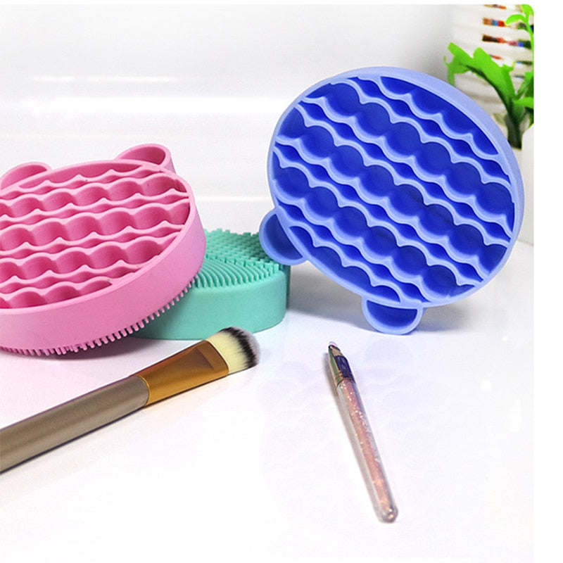 Racks Scrubber Tool Cleaner Silicone Egg Cleaning Glove Makeup Washing Brush