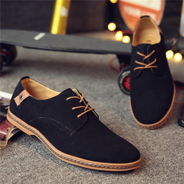 Men's Casual Suede Leather spring autumn tide Designer Shoes