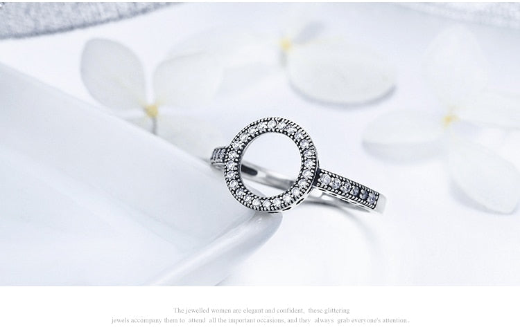 Lucky Circle 925 Sterling Silver Party Wear Ring