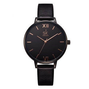Thin Casual Strap Leather Fashion Watch For Women