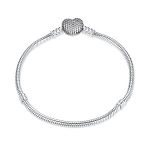 Original 925 Sterling Silver 7 Styles Chain Bracelet Bangle For Women