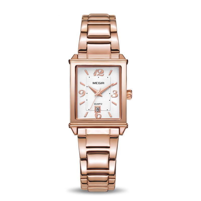 Rose Gold Luxury Wristwatch For Women