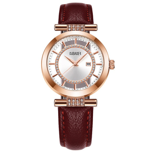 Genuine Leather Wrist Watch For Woman With Latest Design