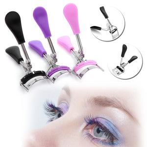 New Random Colorful Cosmetic Eyelash Curler With Comb Tweezers