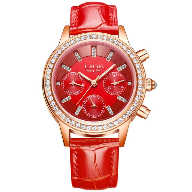 Casual Leather Ladies Dress Watch For Women