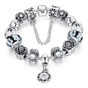 Glass Bead Strand Crystal Fashion Bracelet
