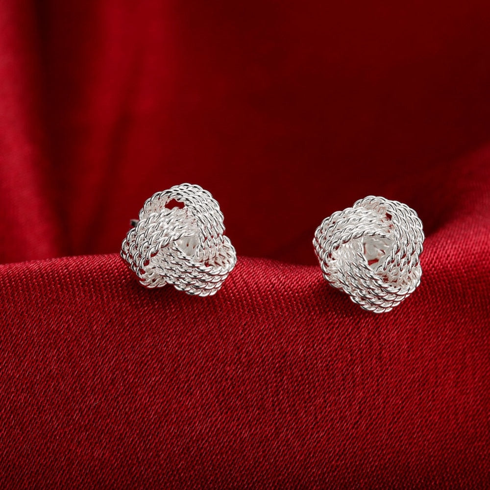 New Tennis Net 925 Sterling Silver Earrings For Women