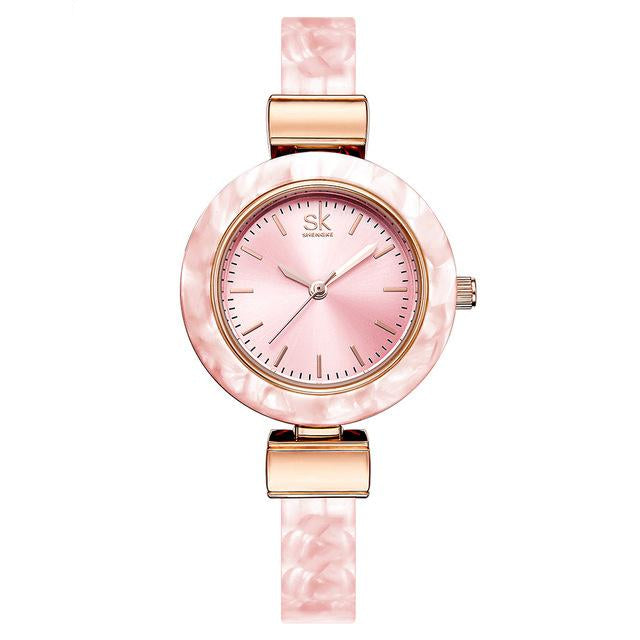Creative Unique Style Watch For Women With Bangles Fashion Wristwatch