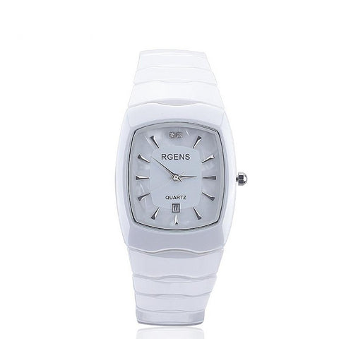 Women Ceramics Wrist Watch With Square Casual Waterproof Watch For Women
