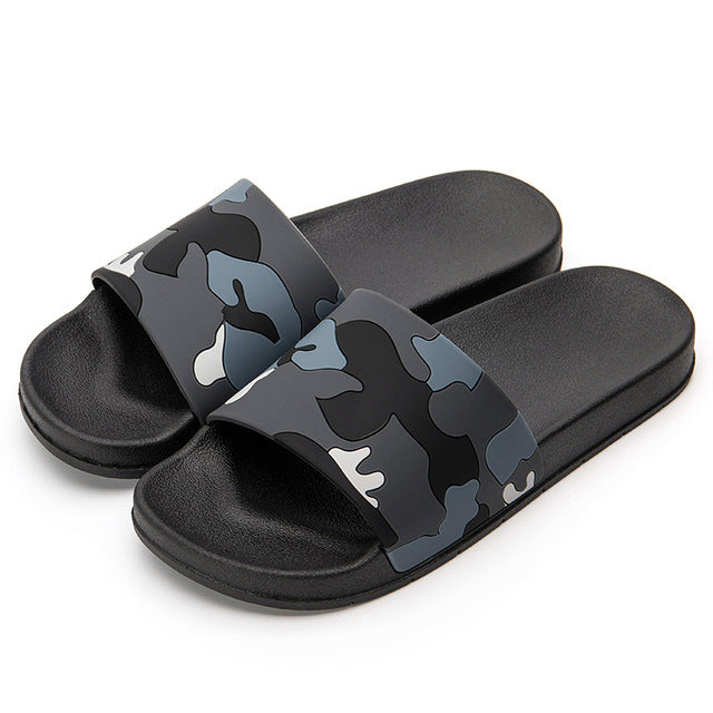Non-slip Indoor and Outdoor Summer Camo Style Slippers