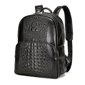 Leather High Quality Crocodile Style Men Backpack