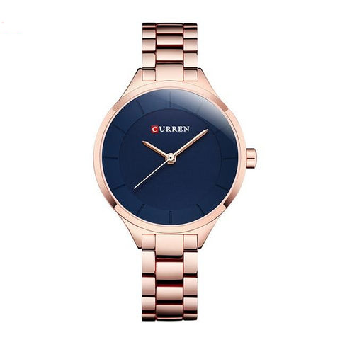 Stainless Steel Rose Gold Watch For Women With Standard Look