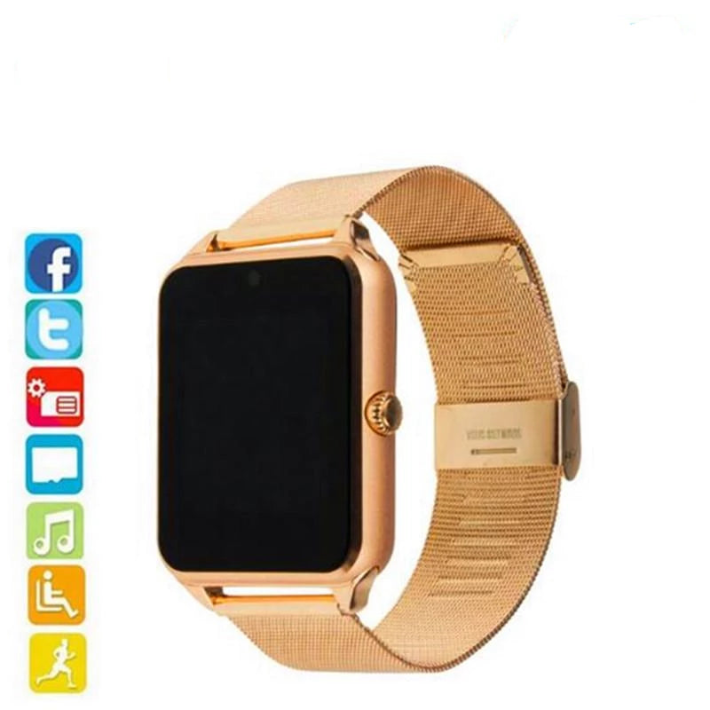 Sim TF Card Support Android & IOS Multi-language Bluetooth Smart Watch