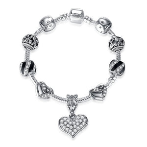 New Brand Women Bracelet With 925 Unique Silver Crystal Charm Bracelet