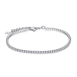 925 Sterling Silver Simulated Cubic Zirconia Tennis Bracelet