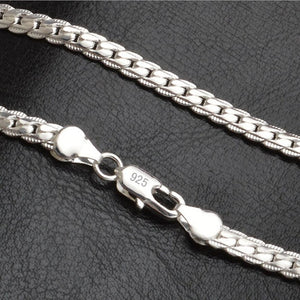 New Fashion Chain With 925 Sterling Silver Necklace Pendant For Men