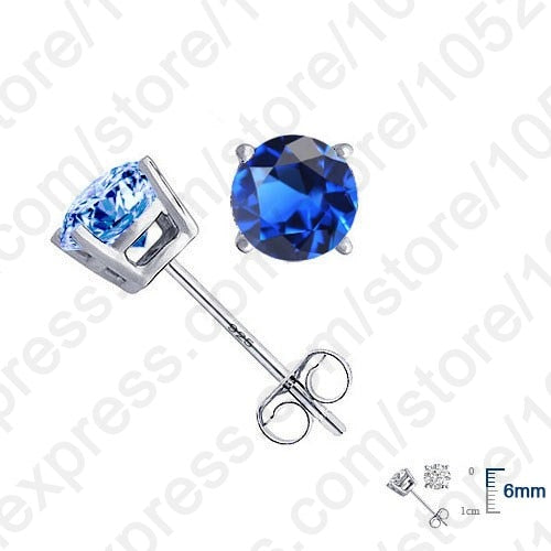 High Quality Real Pure 925 Sterling Silver Earrings Jewelry For Women With Cubic Zircon